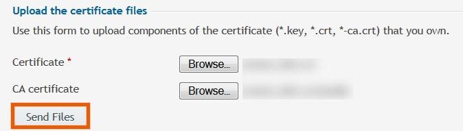 Upload SSL in Plesk