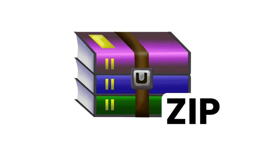 WinRar Logo with ZIP Text on it