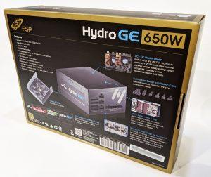 FSP Hydro GE 650W PSU Box Back