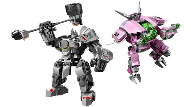 LEGO D.Va and Reinhardt Kit
