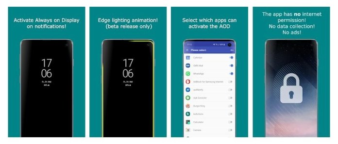 AODnotify Application for Samsung Devices