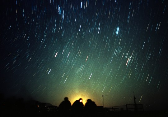 Leonid meteor shower, near Amman (Picture: Reuters)