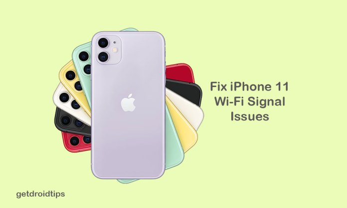 How to fix iPhone 11 with unstable WiFi signal which looses frequently?