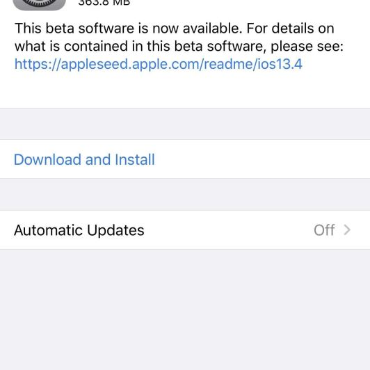 Apple Releases Third iOS 13.4 Public Beta for iPhone Today