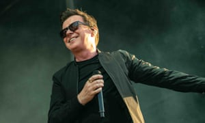 Rick Astley on stage at the Day on the Green concert