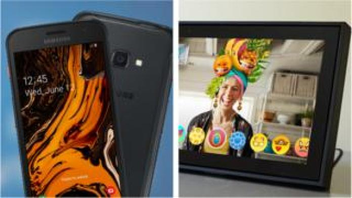Samsung smartphone and Facebook Portal