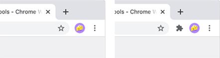 Chrome Extension Toolbar menu