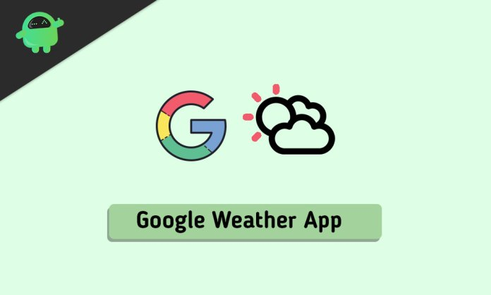 get the Google weather app on your phone