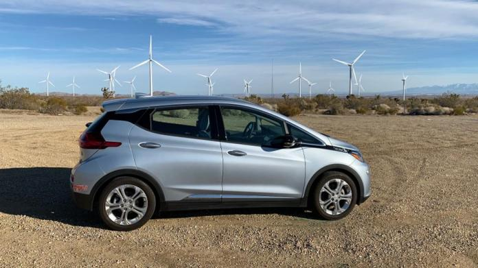 My 2018 Chevy Bolt in Lancaster, Calif. Another silly reason to consider and EV: the ability to charge with clean, renewable energy.