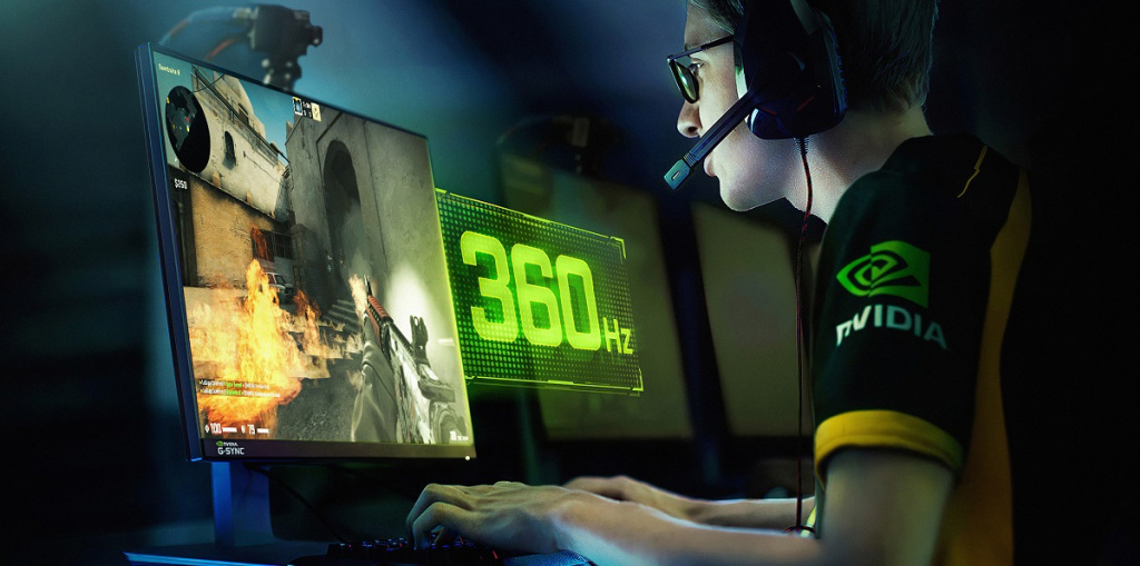 Nvidia's 360Hz G-Sync monitor for competitive gaming.