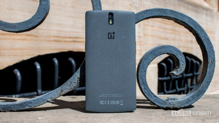 The back of the OnePlus One.