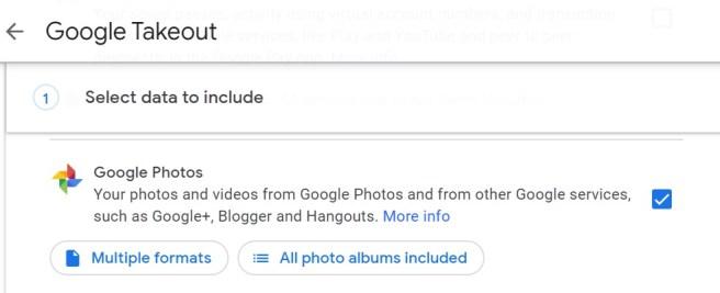 Google Takeout Select App