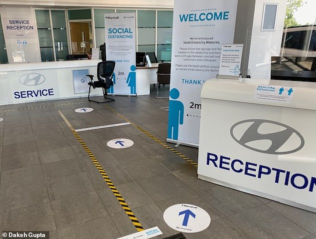 Dealerships will look very different fro, this month. Strict guidelines are in place to ensure social distancing is maintained