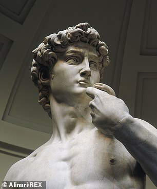 The famous statue of David, by artist Michelangelo, at Florence's Galleria dell' Accademia in Italy