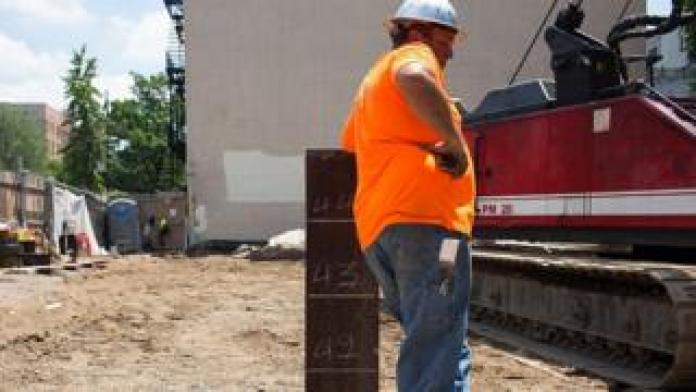 US construction worker