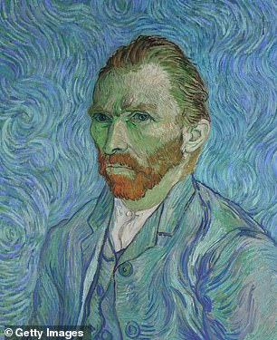 Painter Vincent Van Gogh's self-portrait, dating back to 1889, currently on show at the Musée d'Orsay in Paris