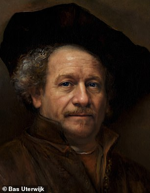 The AI-generated realistic picture of Rembrandt by Bas