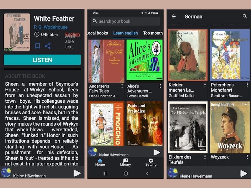 LibriVox application interface