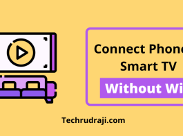 how to connect phone to smart tv without wifi