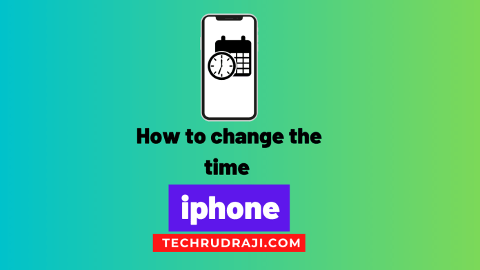 how to change the time on your iphone