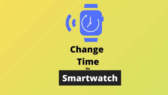 how to change time on smartwatch