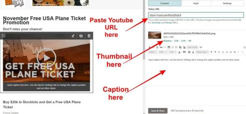 how to embed video in Mailchimp