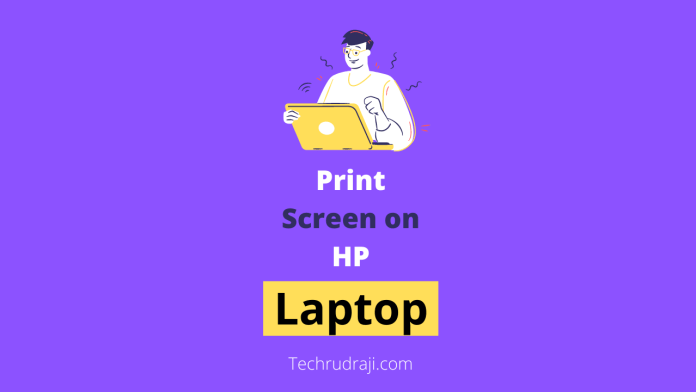 how to print screen on hp laptop