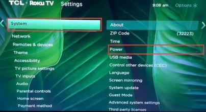how to restart roku tv