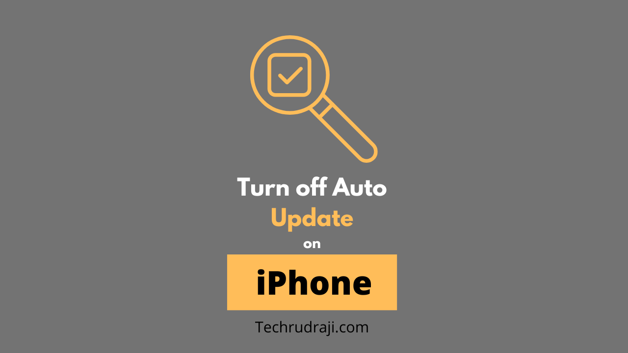 how to turn off auto update on iphone