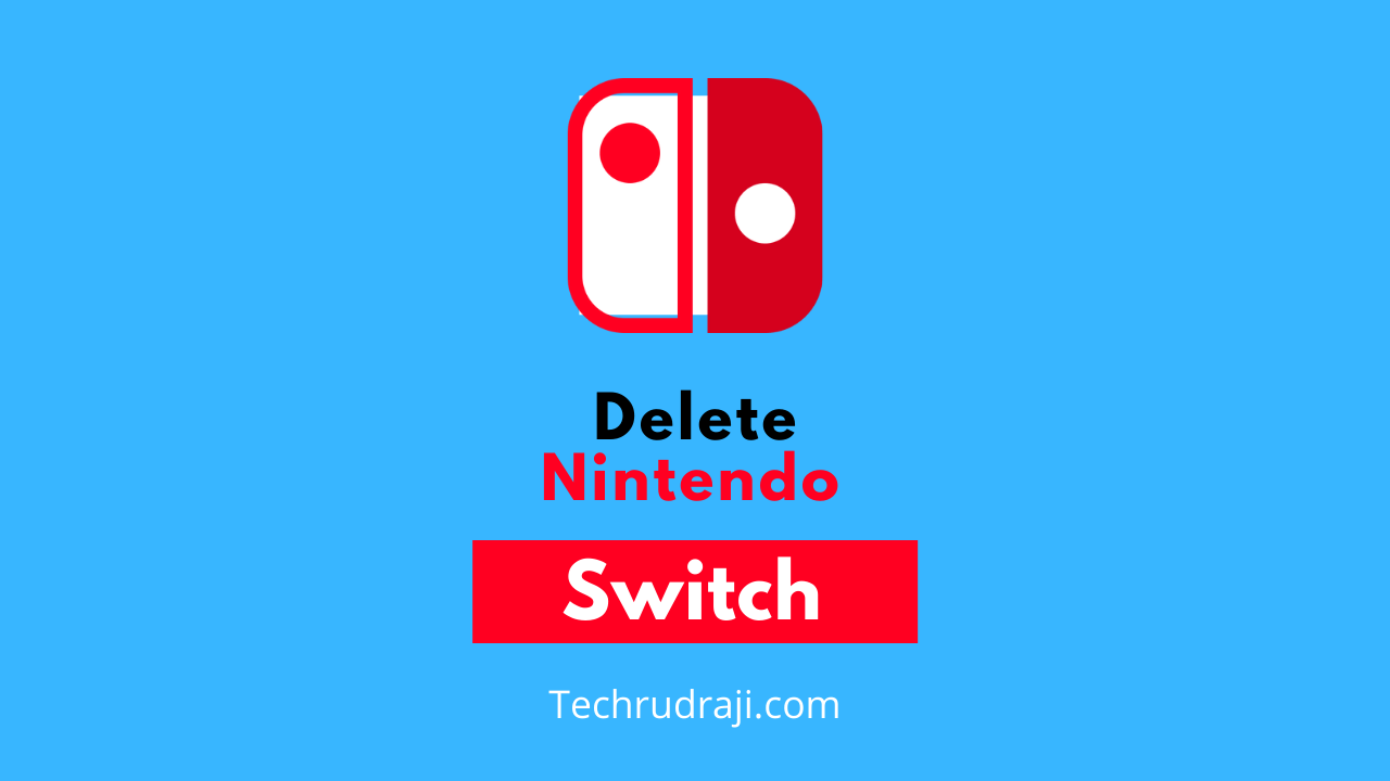 how to delete nintendo switch account