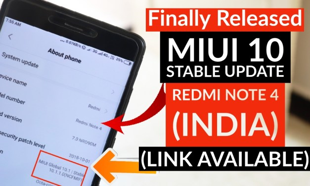MiUi 10 Stable Update 10.1.1 Released in Redmi Note 4
