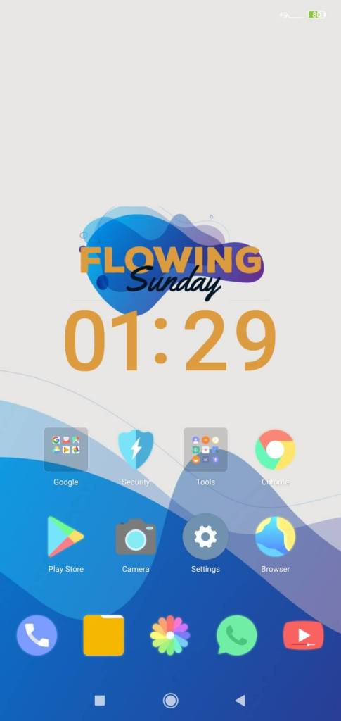 MBlue Liquid home screen MiUi themes in techrushi.com