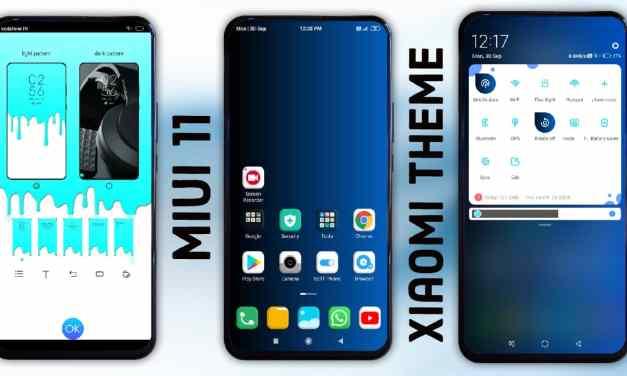 Blue Simple V11 MiUi themes for xiaomi device