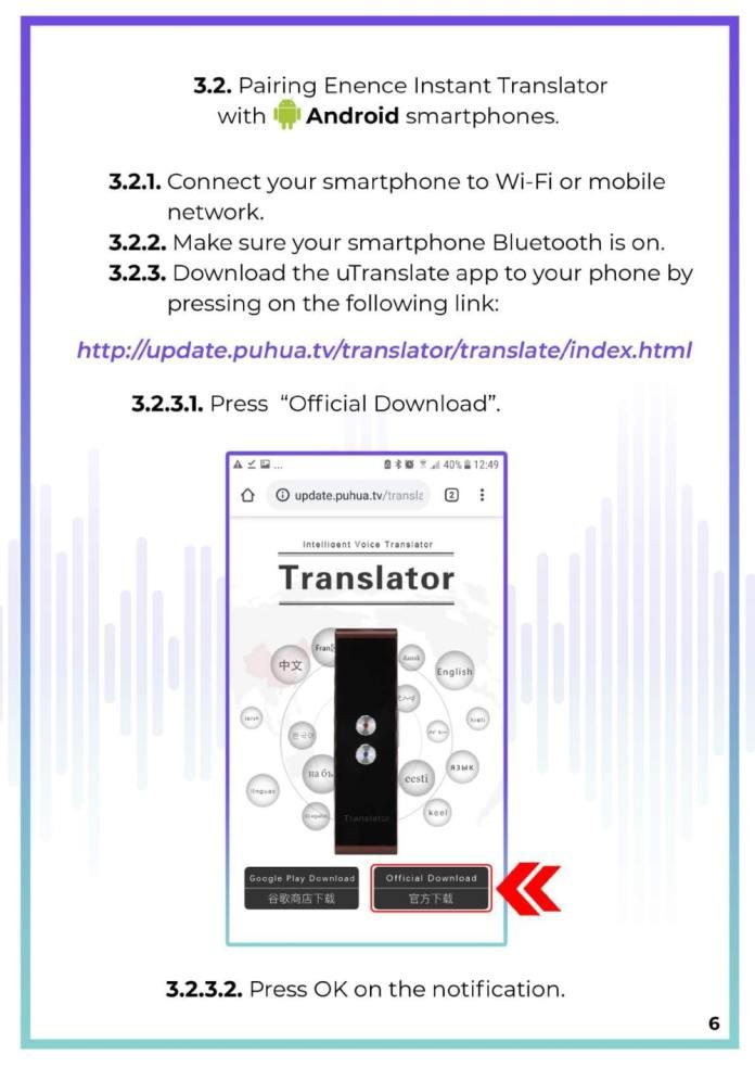 MUAMA Enence Instant Voice Translator User Manual 7