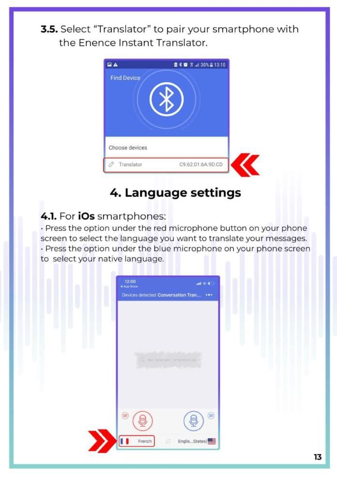 MUAMA Enence Instant Voice Translator User Manual 14