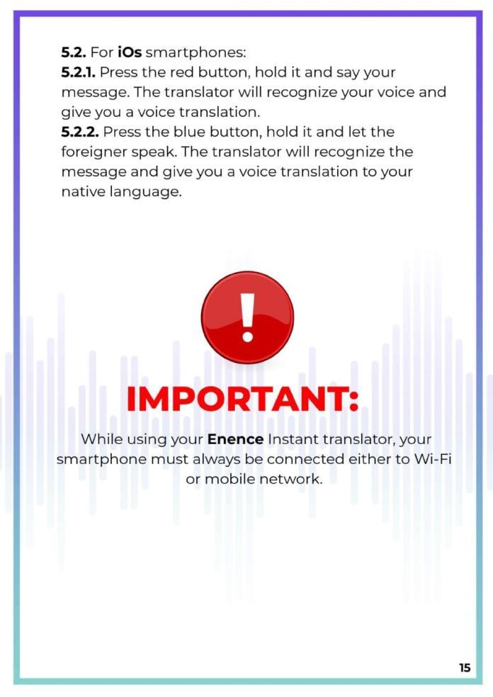 MUAMA Enence Instant Voice Translator User Manual 16