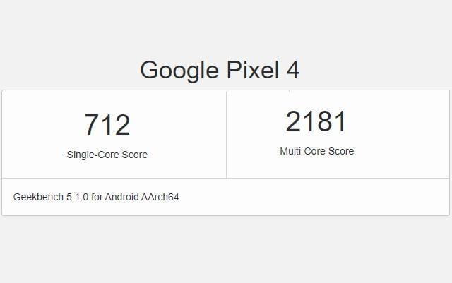 Android R Spotted Running Preview on Google Pixel 4: Geekbench
