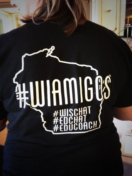 I found some #michED siritual brothers and sisters in the #WIAMIGOS group of Wisconsin educators. Groups that can transcend the digital connections to form real-world connections are some of the most powerful and productive.