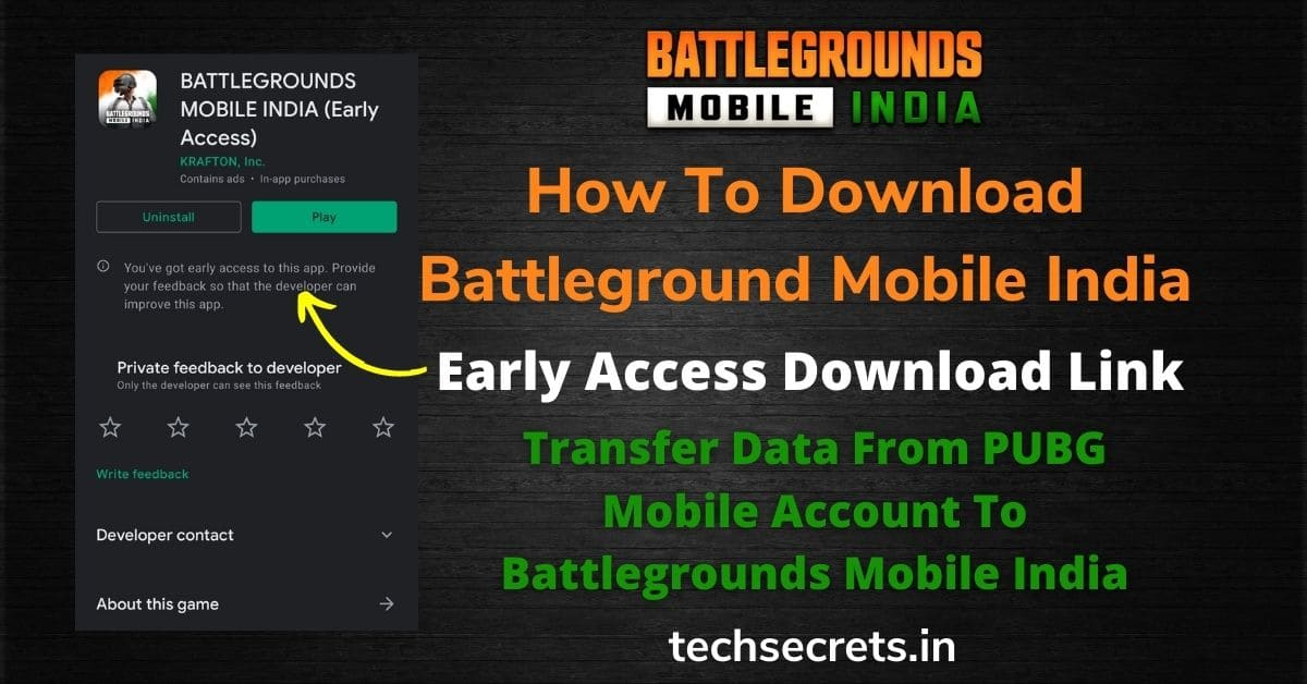 How To Download Battleground Mobile India Early Access Link