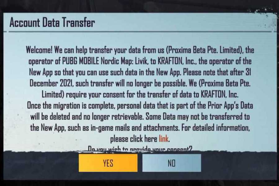 How To Transfer Data From PUBG Mobile Account To Battlegrounds Mobile India