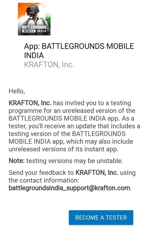 Steps To Download Battleground Mobile India