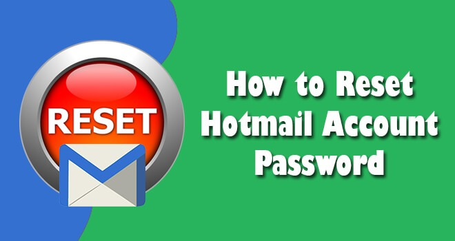 how to change hotmail password