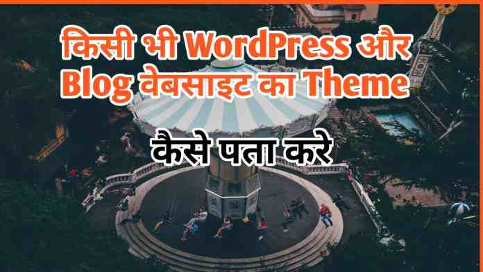 Cheak Websites Theme Name In Hindi