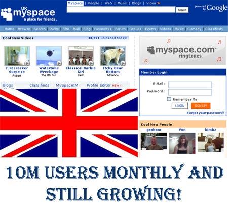 MySpace Uk still growing