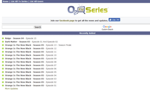 O2tvseries - TV Shows or Series