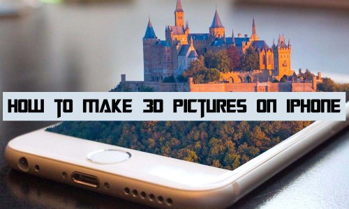 How to Make 3d Pictures on iPhone