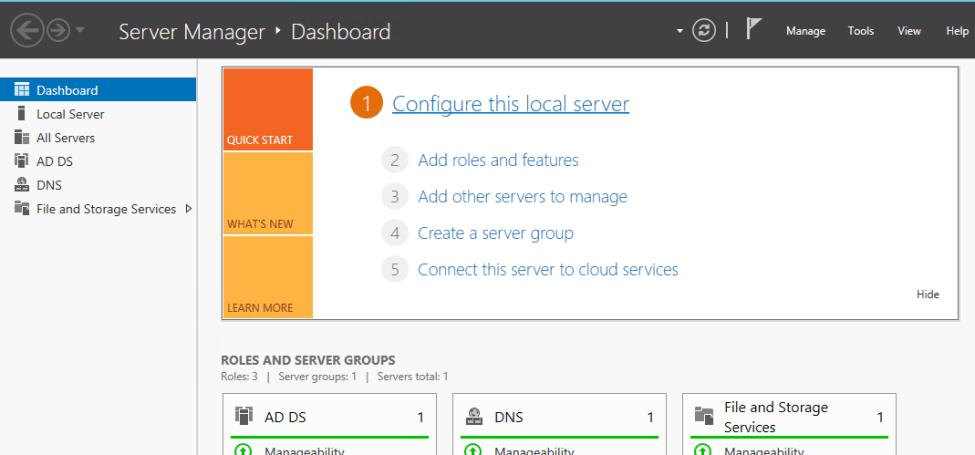 Create active directory user account