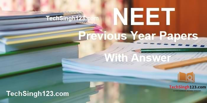 NEET Previous Year Papers PDF