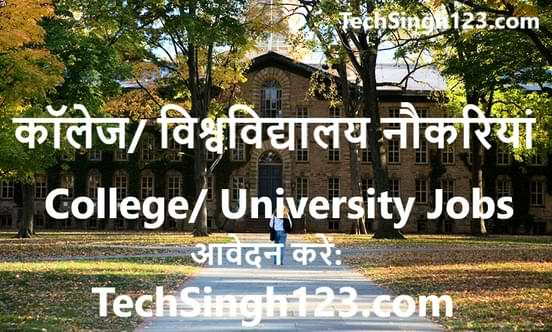 University Recruitment यूनिवर्सिटी भर्ती विश्वविद्यालय शिक्षक भर्ती विश्वविद्यालय भर्तियां