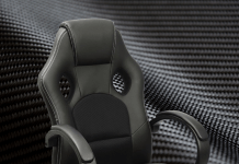 Black Gaming Chair Carbon Fiber